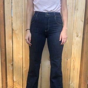Paige denim wide leg bell bottom jeans size 27